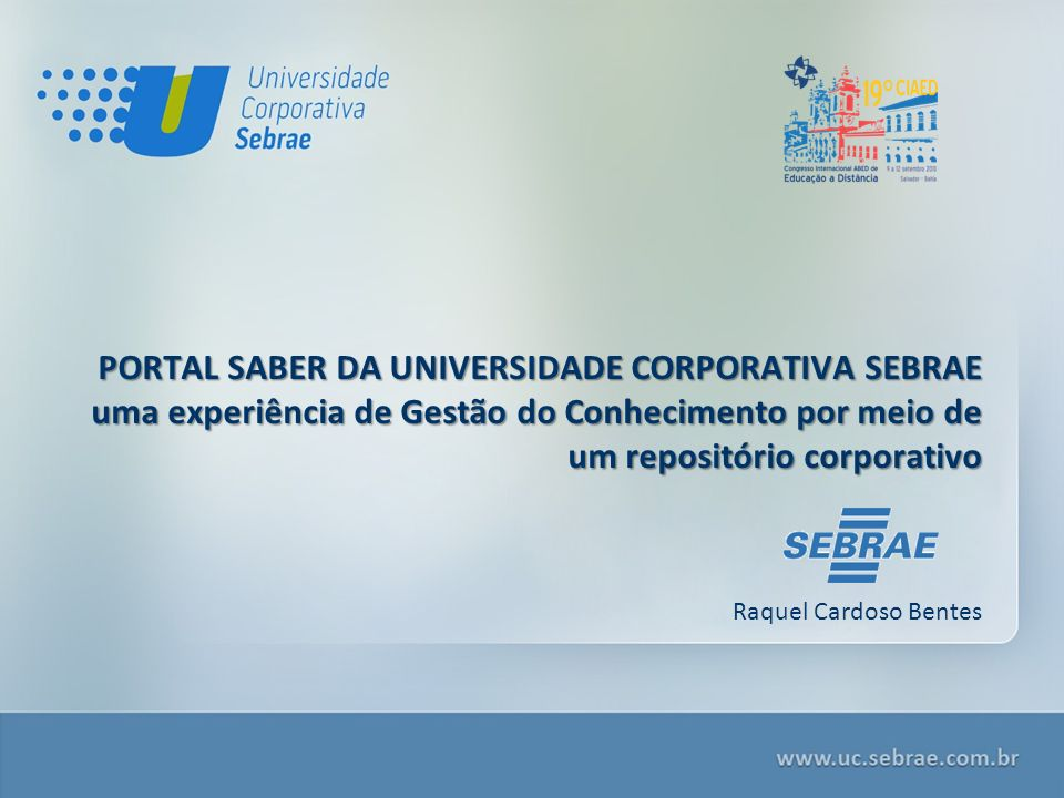 PORTAL SABER DA UNIVERSIDADE CORPORATIVA SEBRAE
