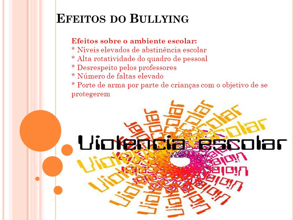 Efeitos do Bullying