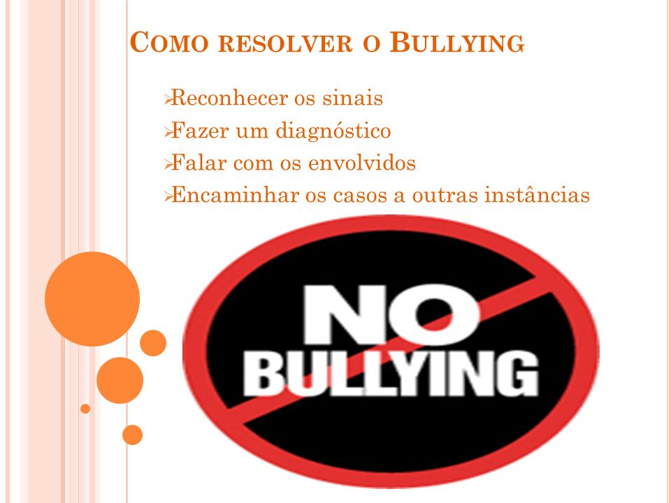 Como resolver o Bullying