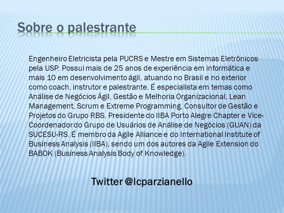 Sobre o palestrante Twitter @lcparzianello