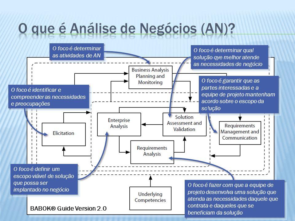 O que é Análise de Negócios (AN)
