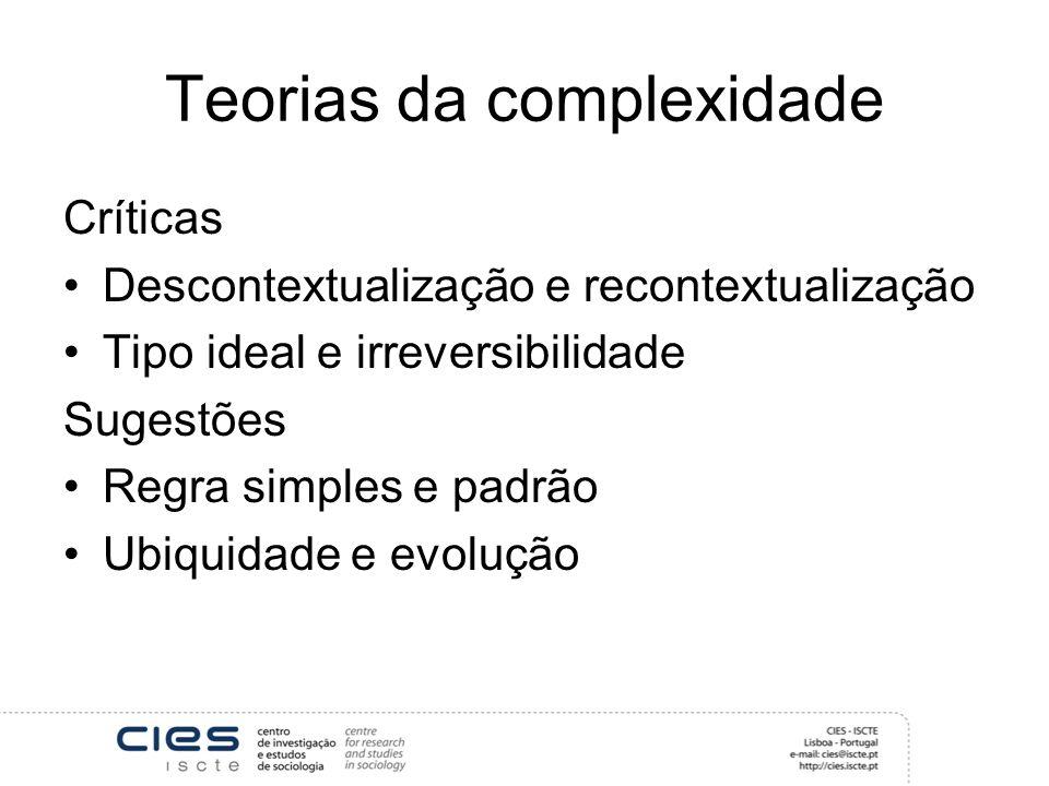 Teorias da complexidade