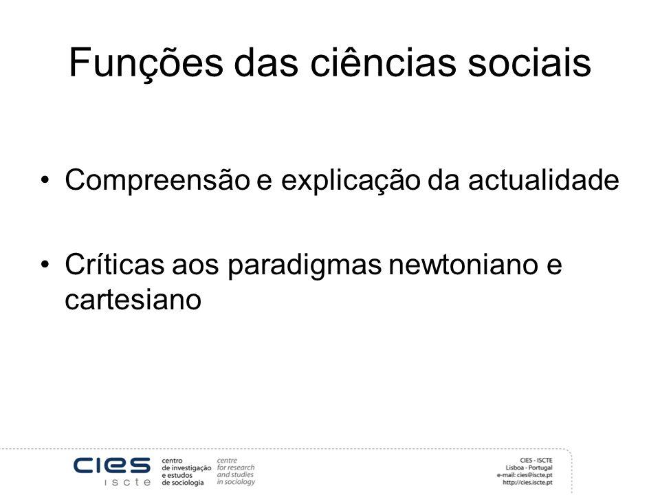 Funções das ciências sociais