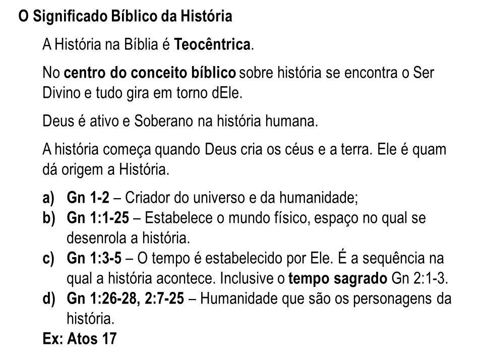 O Significado Bíblico da História