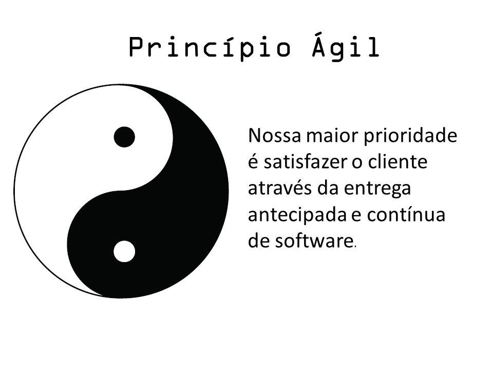 Princípio ÁgilNossa maior prioridade é satisfazer o cliente através da entrega antecipada e contínua de software.