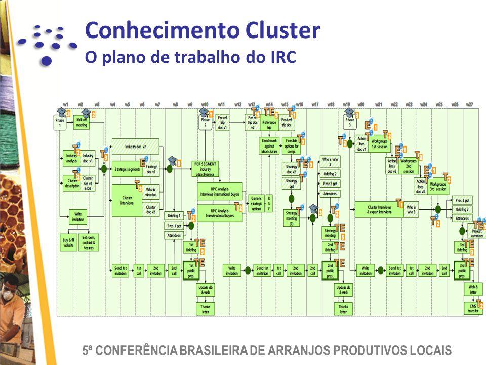 Conhecimento Cluster O plano de trabalho do IRC