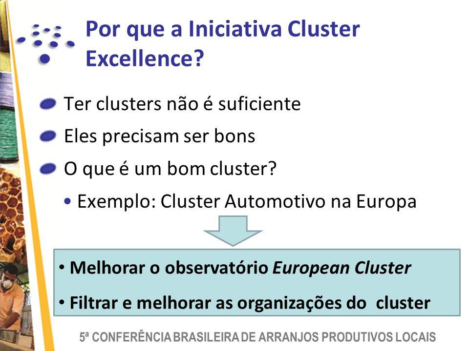 Por que a Iniciativa Cluster Excellence