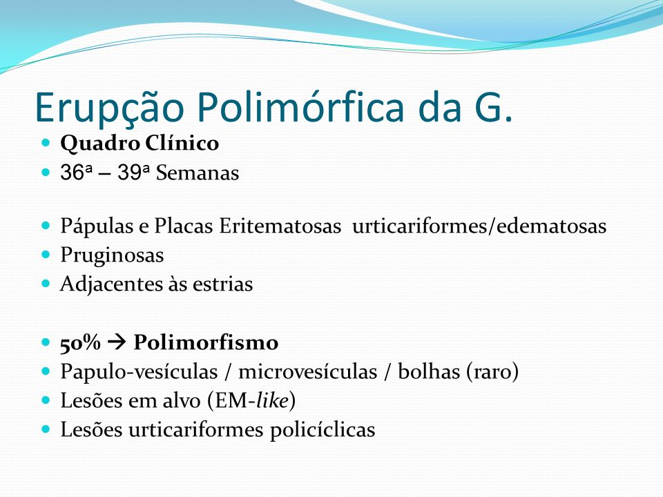 Erupção Polimórfica da G.