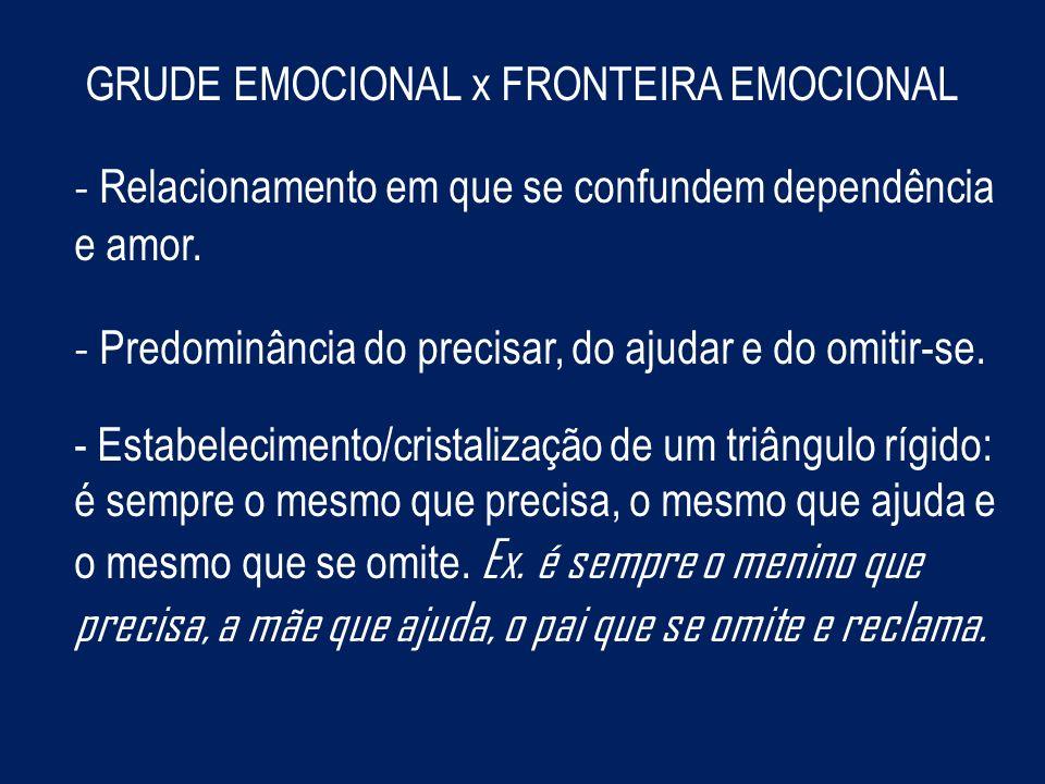 GRUDE EMOCIONAL x FRONTEIRA EMOCIONAL