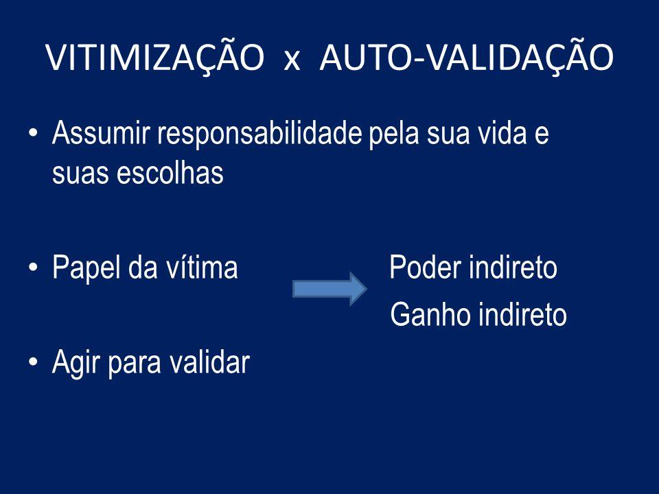 VITIMIZAÇÃO x AUTO-VALIDAÇÃO