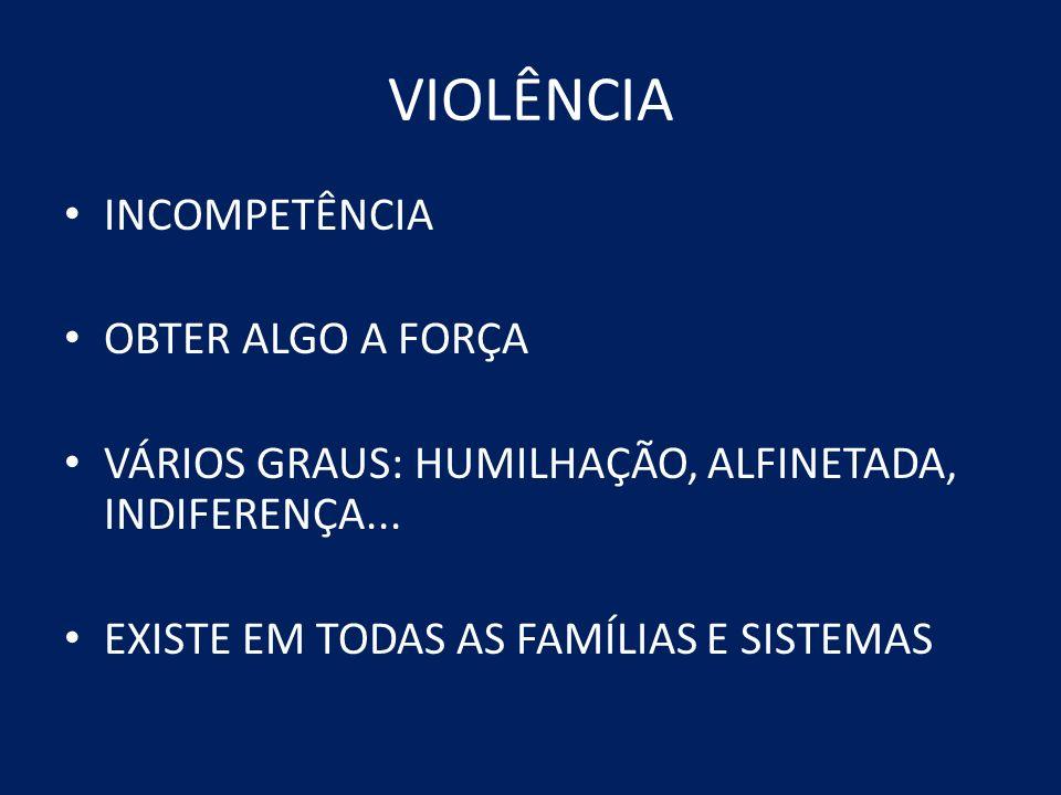 VIOLÊNCIA INCOMPETÊNCIA OBTER ALGO A FORÇA