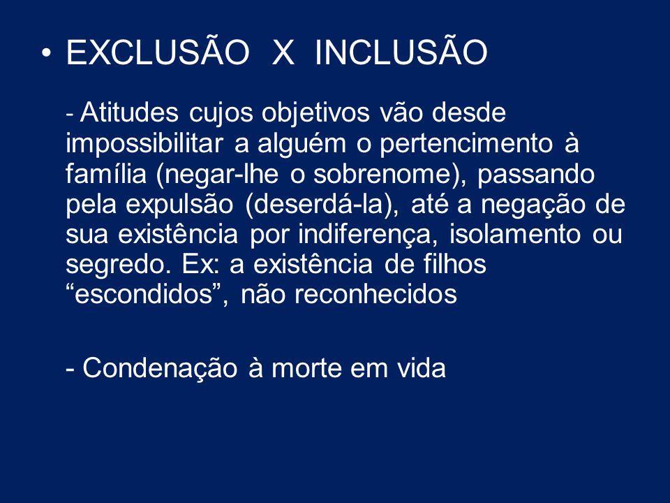 EXCLUSÃO X INCLUSÃO