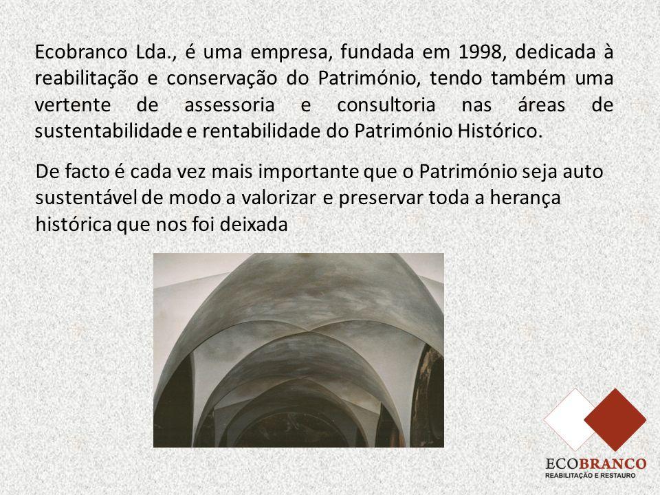 Ecobranco Lda., é uma empresa, fundada em 1998, dedicada à reabilitação e conservação do Património, tendo também uma vertente de assessoria e consultoria nas áreas de sustentabilidade e rentabilidade do Património Histórico.