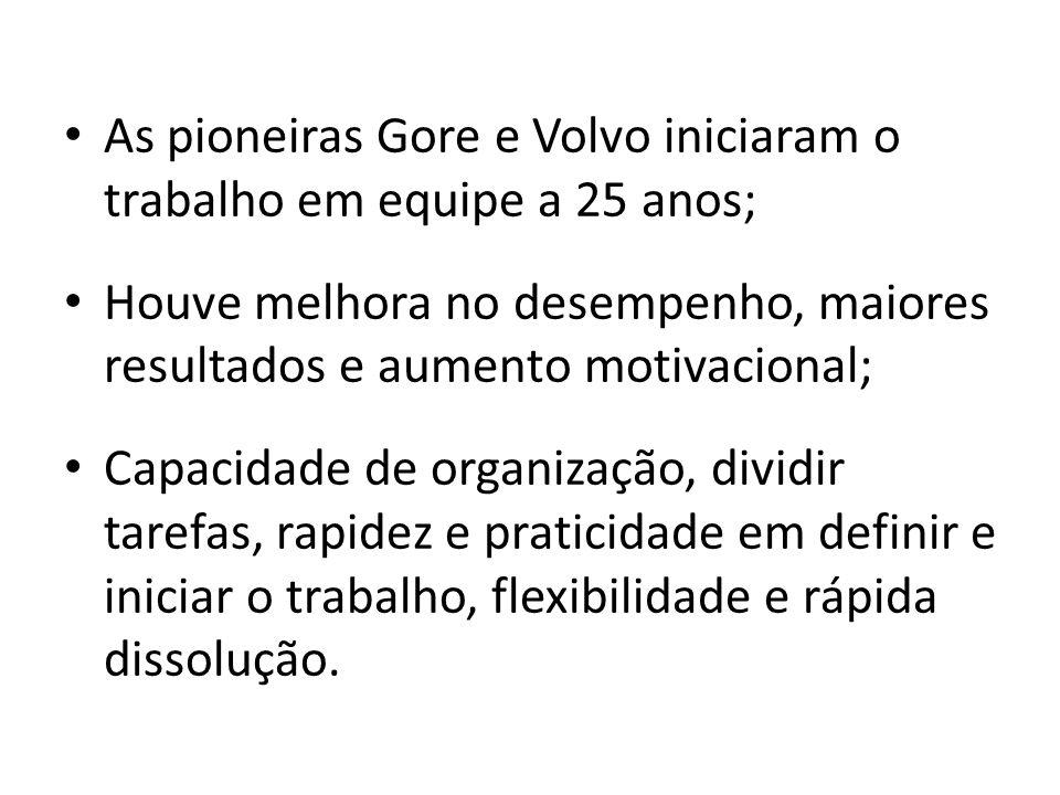 As pioneiras Gore e Volvo iniciaram o trabalho em equipe a 25 anos;