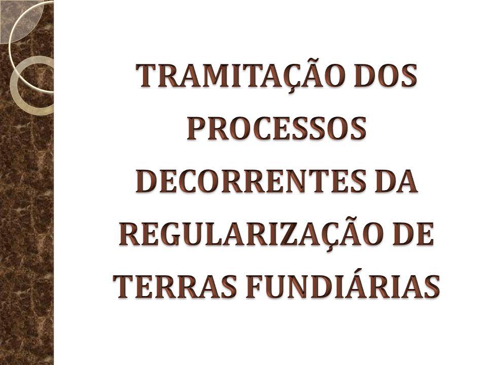 TRAMITAÇÃO DOS PROCESSOS DECORRENTES DA REGULARIZAÇÃO DE TERRAS FUNDIÁRIAS