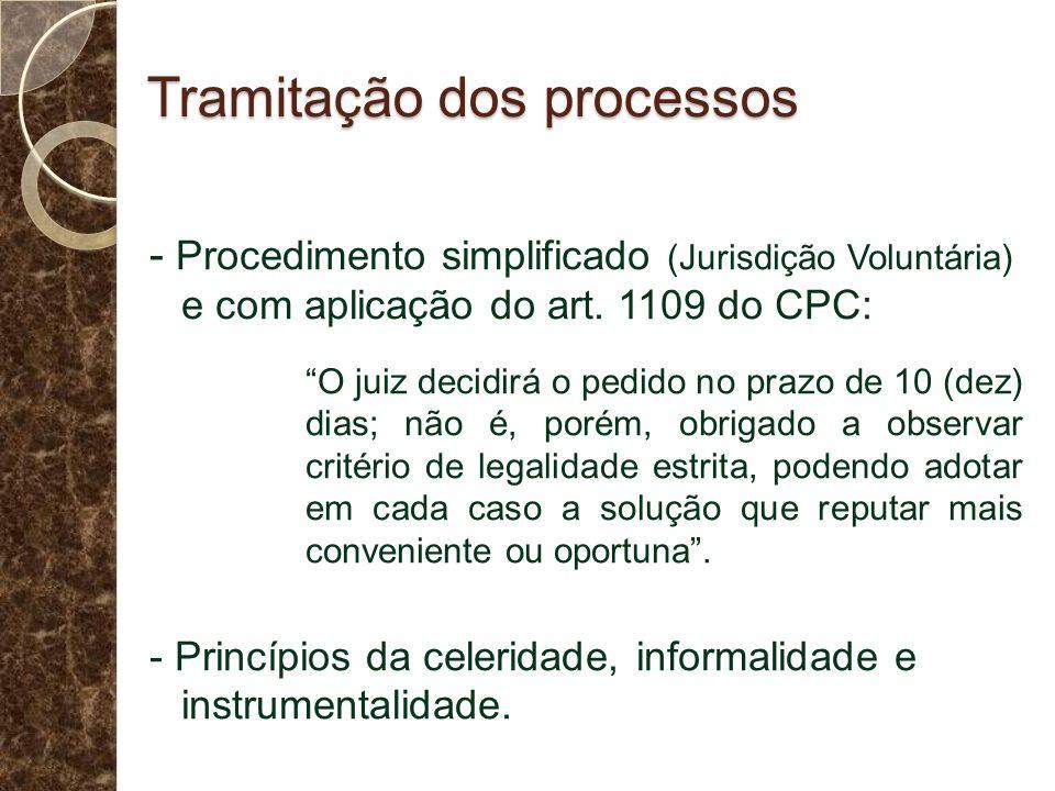 Tramitação dos processos