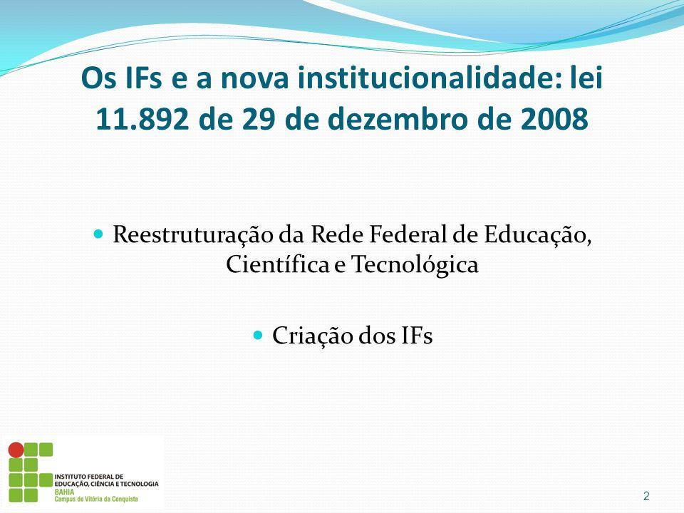 Reestruturação da Rede Federal de Educação, Científica e Tecnológica