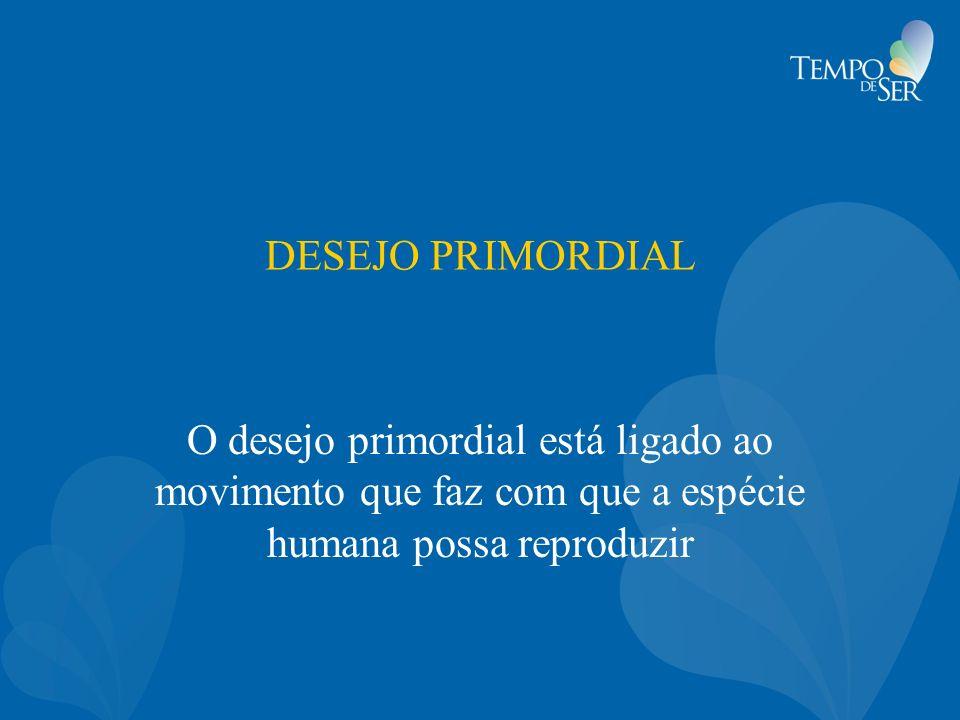 DESEJO PRIMORDIAL O desejo primordial está ligado ao movimento que faz com que a espécie humana possa reproduzir.