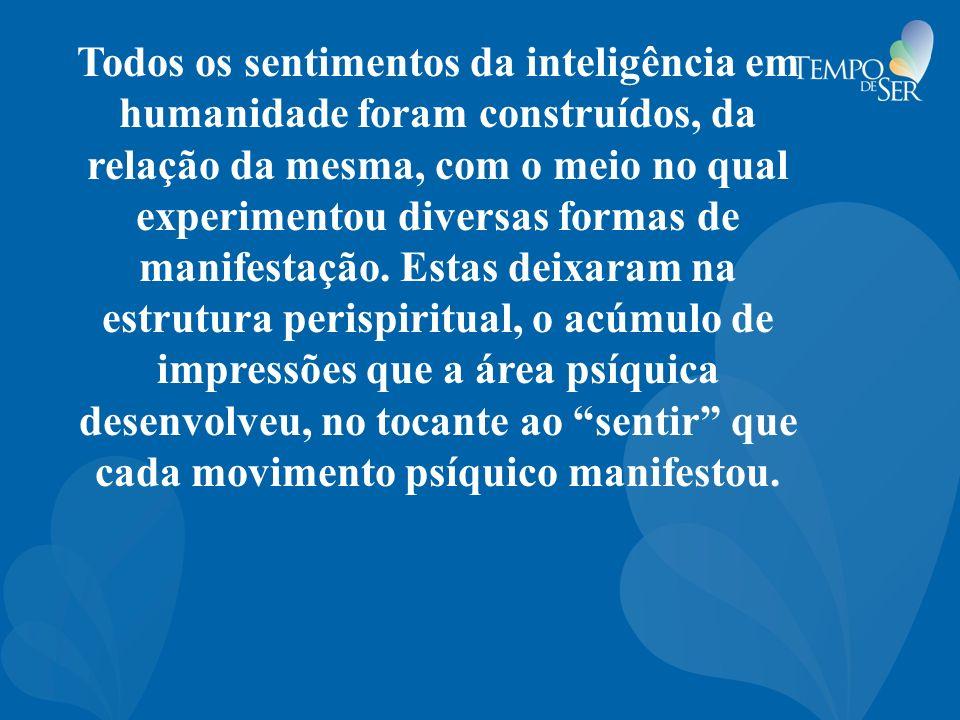 Todos os sentimentos da inteligência em humanidade foram construídos, da relação da mesma, com o meio no qual experimentou diversas formas de manifestação.