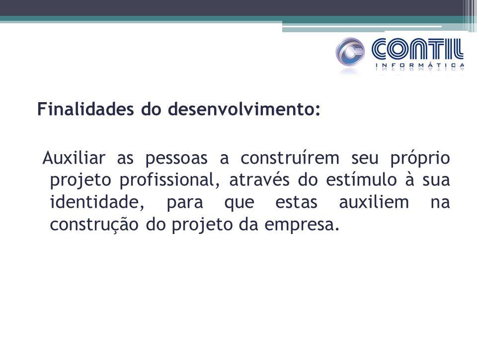 Finalidades do desenvolvimento: