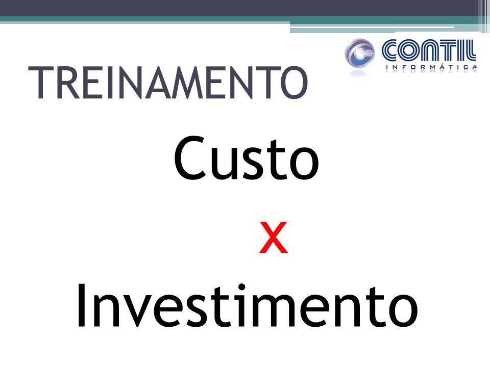 TREINAMENTO Custo x Investimento
