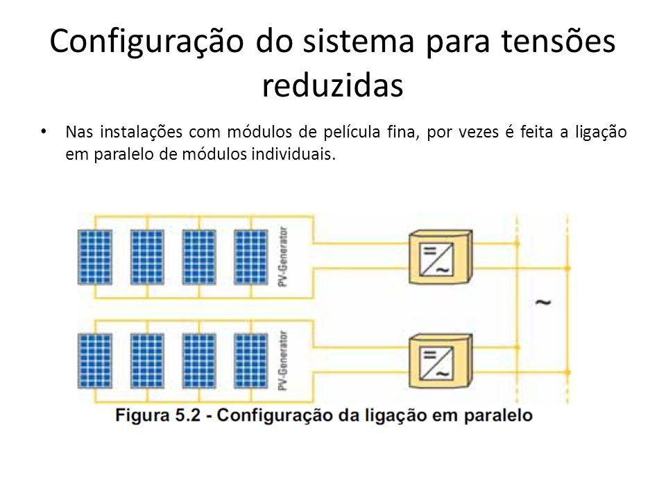 Configuração do sistema para tensões reduzidas
