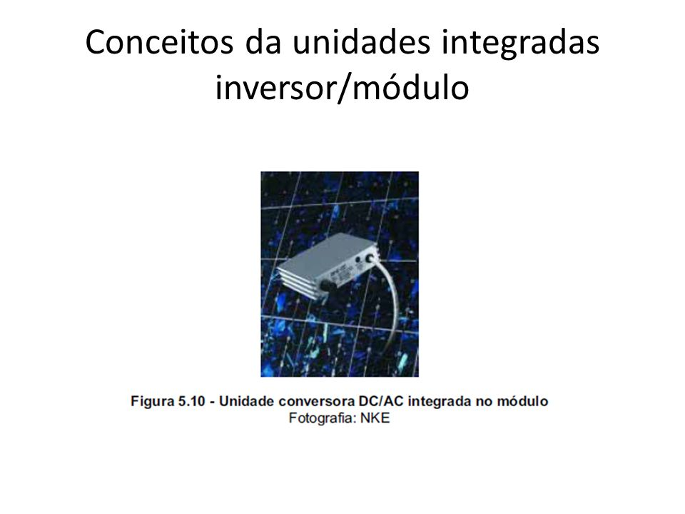 Conceitos da unidades integradas inversor/módulo