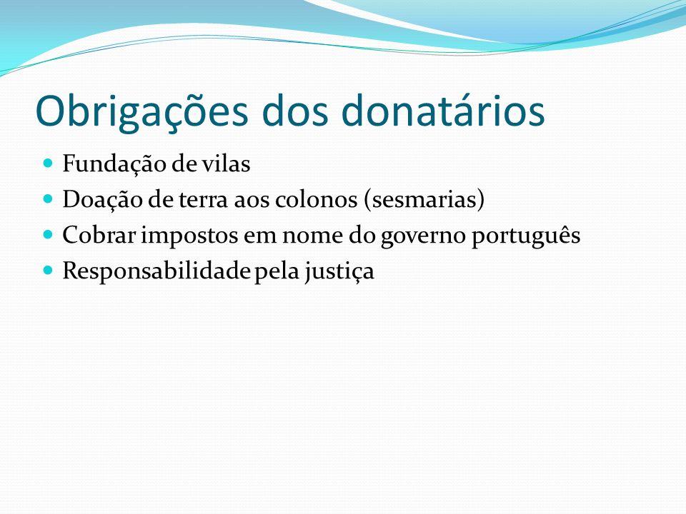 Obrigações dos donatários