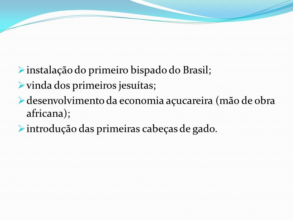 instalação do primeiro bispado do Brasil;