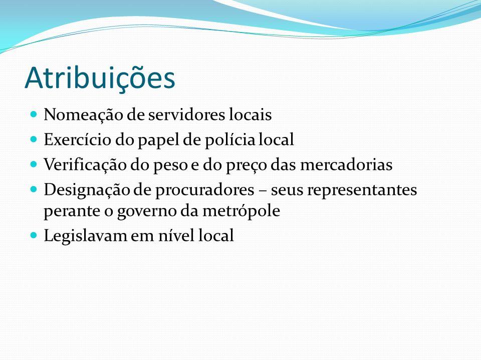 Atribuições Nomeação de servidores locais
