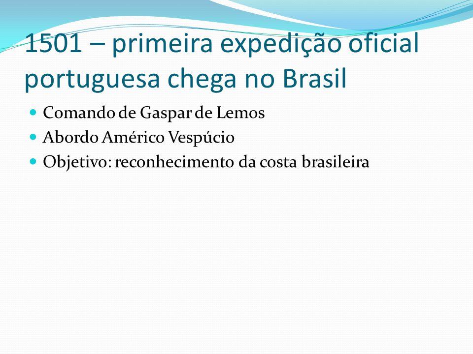 1501 – primeira expedição oficial portuguesa chega no Brasil