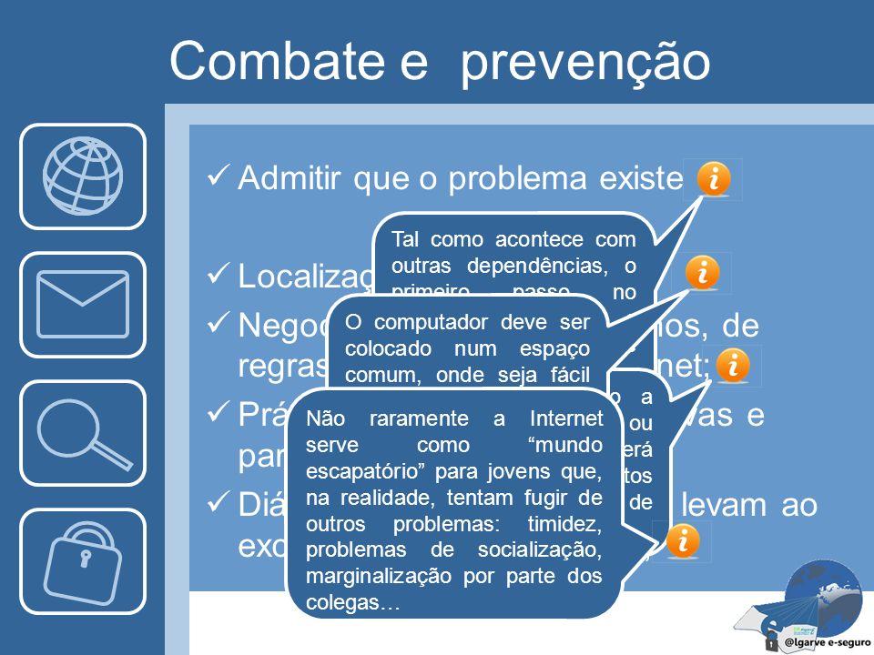 Combate e prevenção Admitir que o problema existe