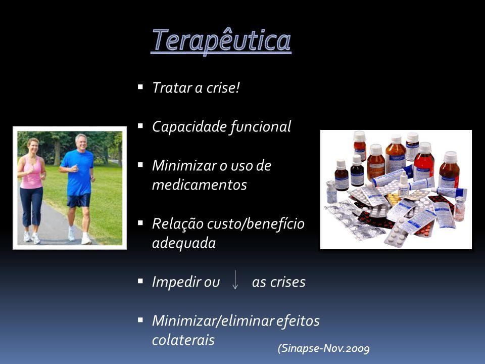 Terapêutica Tratar a crise! Capacidade funcional