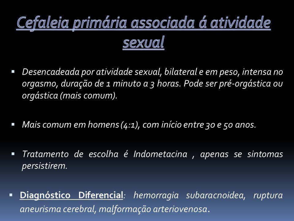 Cefaleia primária associada á atividade sexual