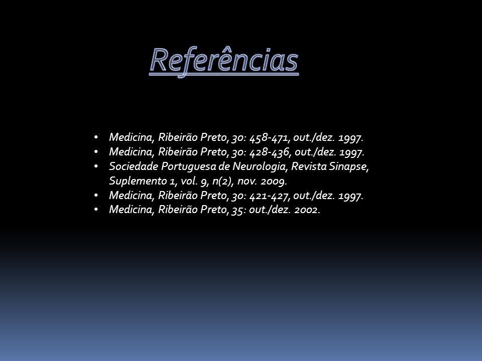 Referências Medicina, Ribeirão Preto, 30: 458-471, out./dez. 1997.