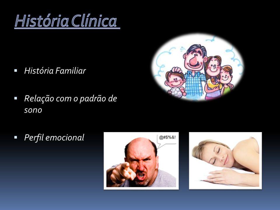 História Clínica História Familiar Relação com o padrão de sono