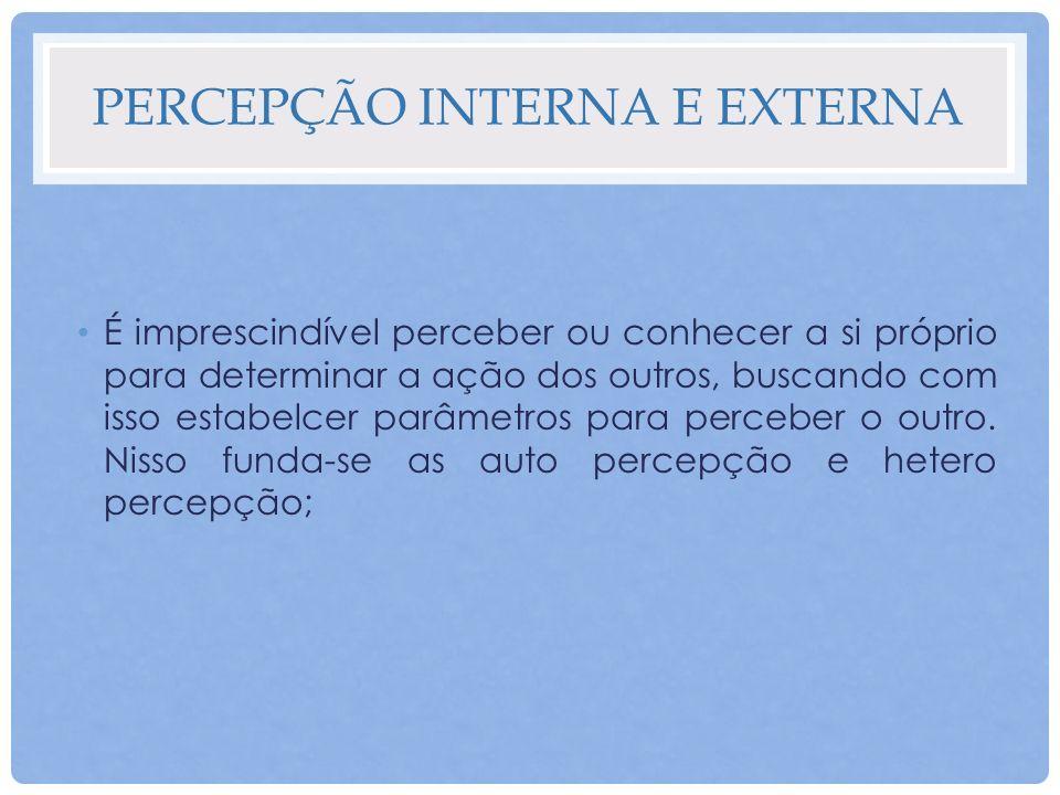 Percepção interna e externa