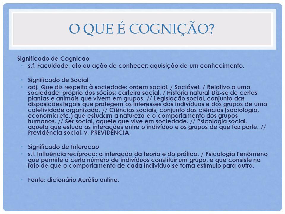 O que é Cognição Significado de Cognicao
