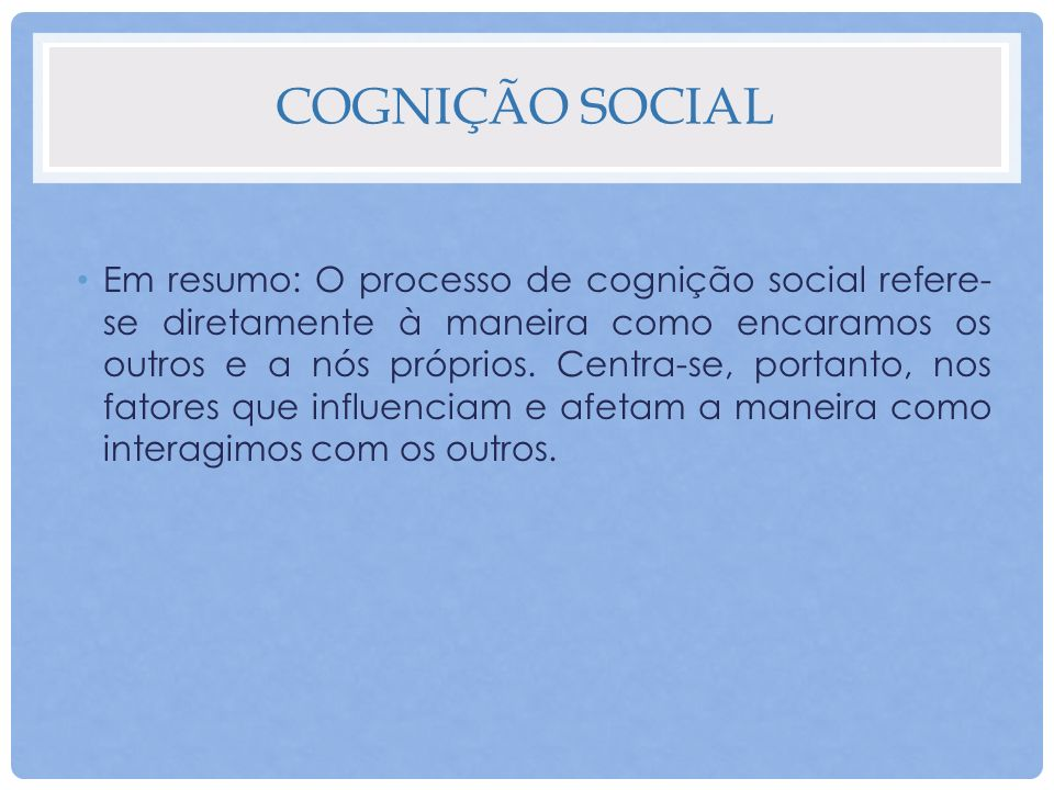 Cognição social