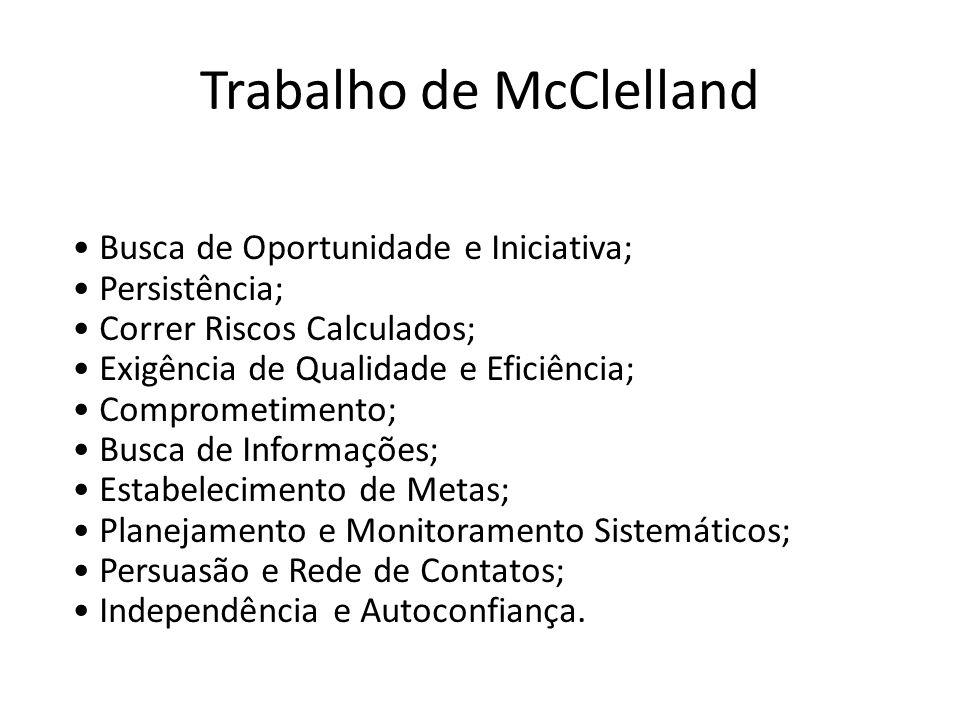 Trabalho de McClelland