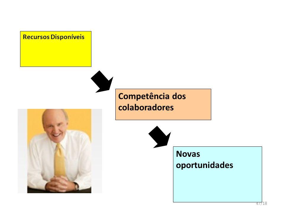 Competência dos colaboradores