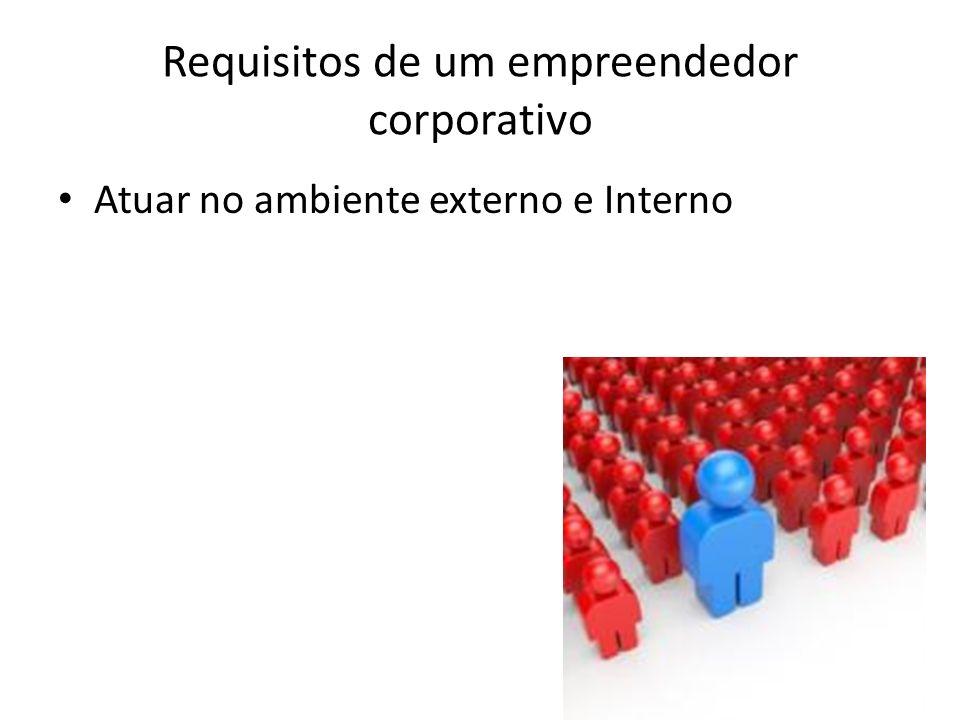 Requisitos de um empreendedor corporativo