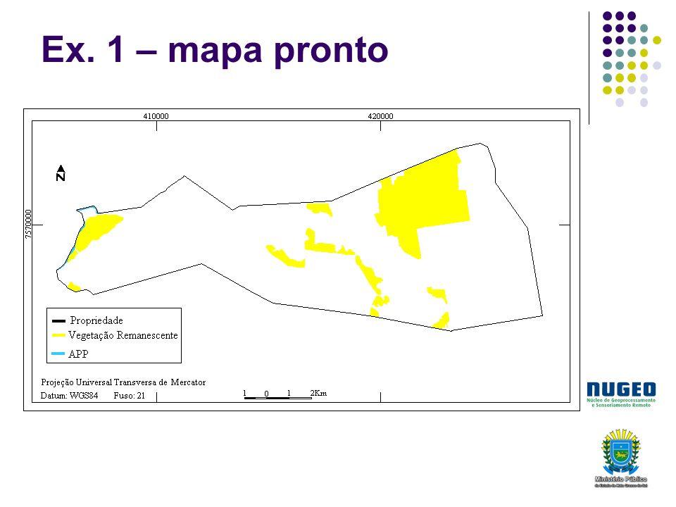 Ex. 1 – mapa pronto