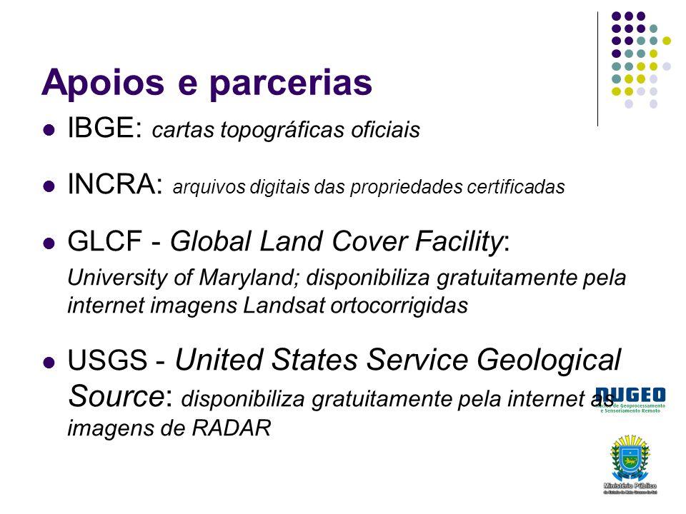 Apoios e parcerias IBGE: cartas topográficas oficiais