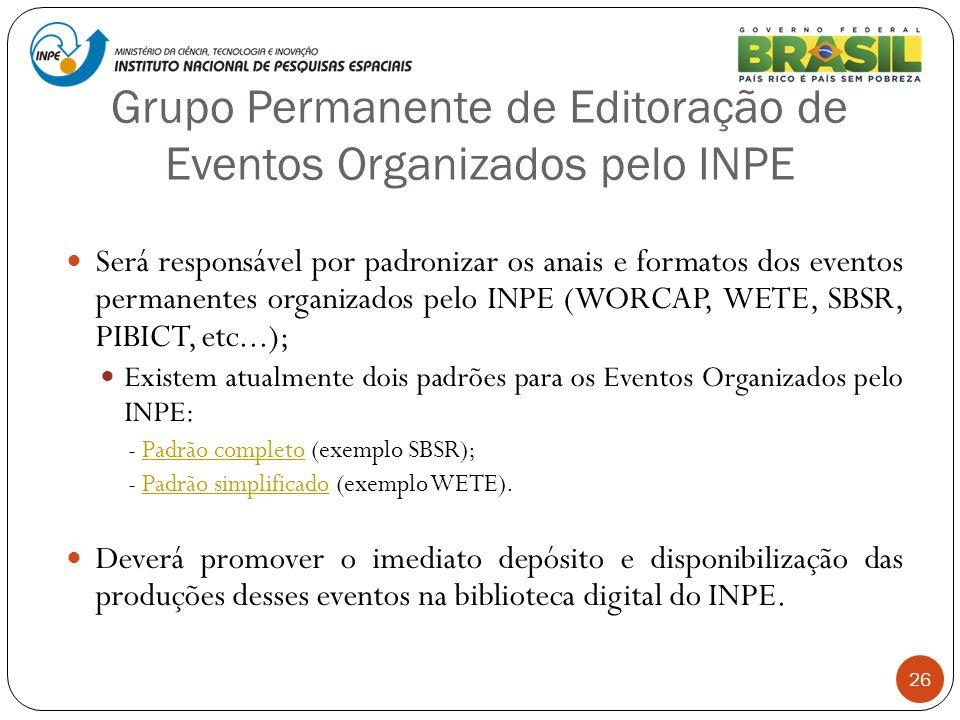 Grupo Permanente de Editoração de Eventos Organizados pelo INPE