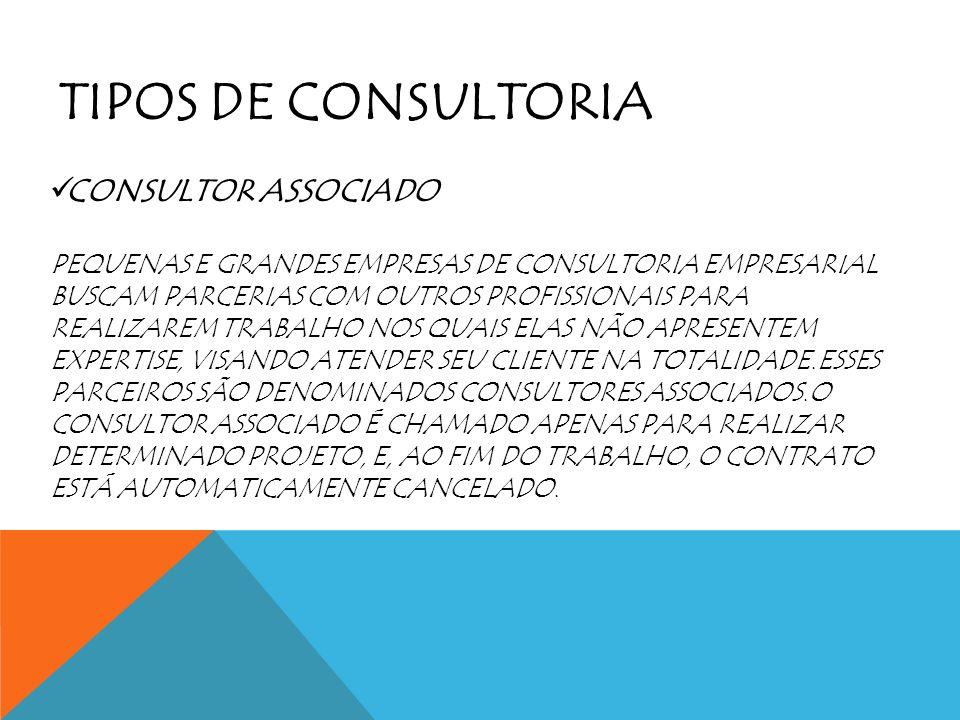 TIPOS DE CONSULTORIA CONSULTOR ASSOCIADO