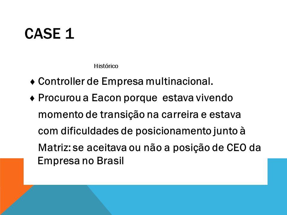 Case 1 Histórico ♦ Controller de Empresa multinacional.