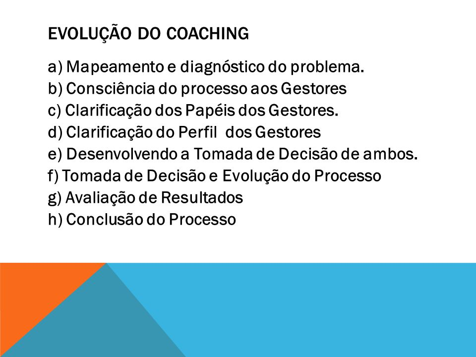 Evolução do Coaching