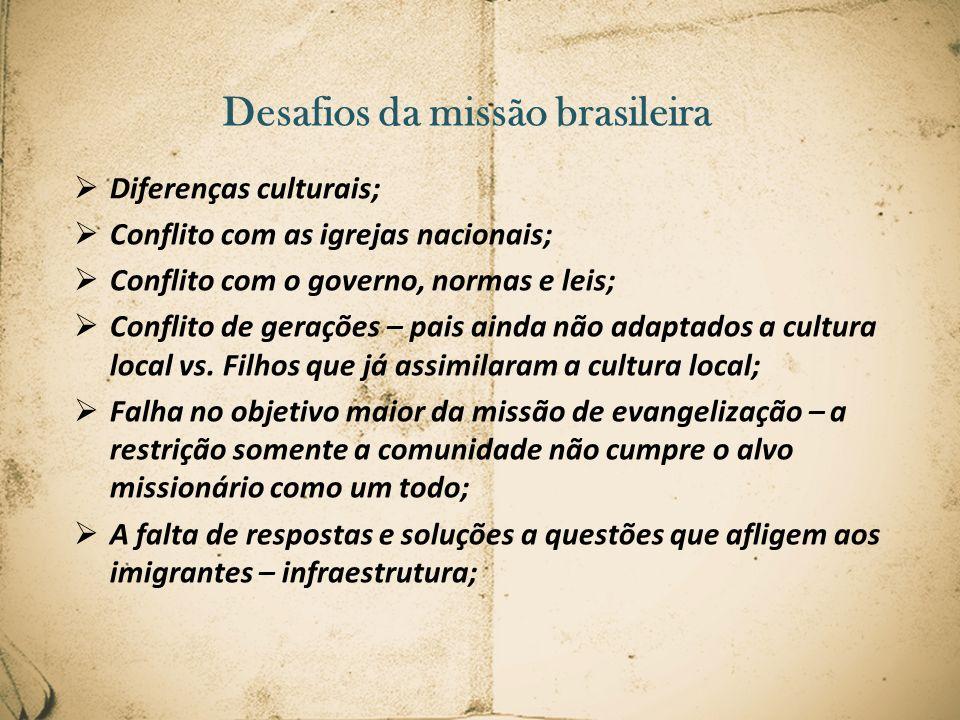 Desafios da missão brasileira