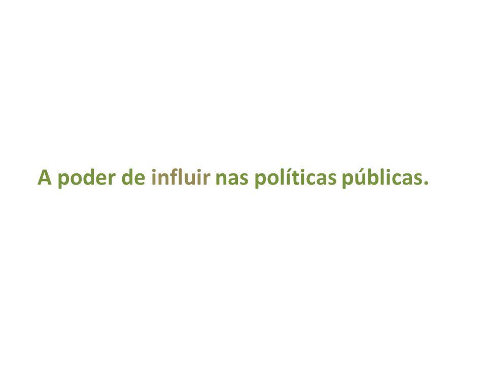 A poder de influir nas políticas públicas.